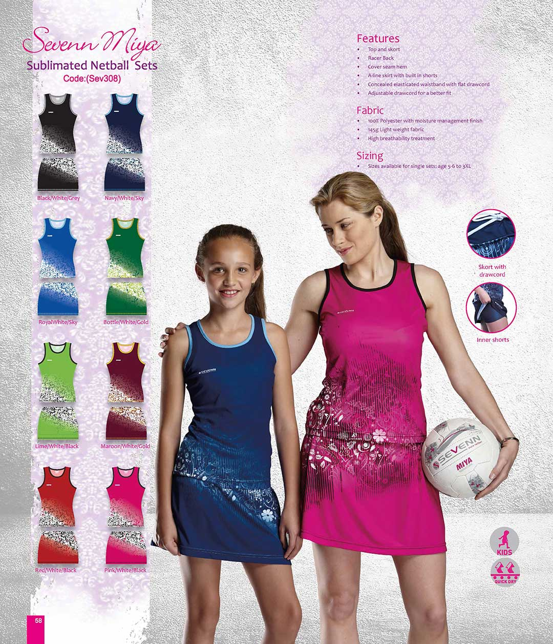 Netball Sports Clothing