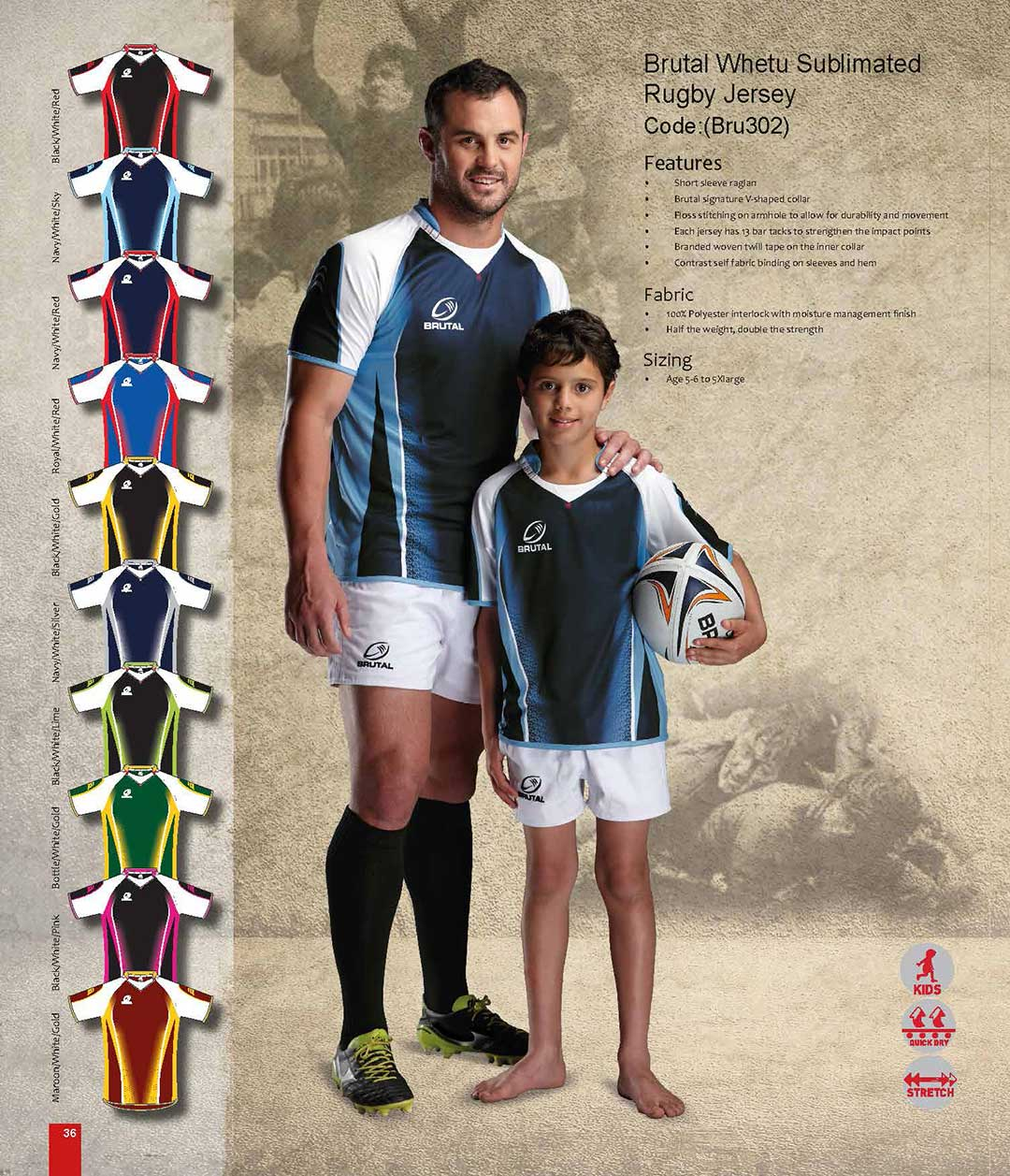 Rugby Sports Clothing